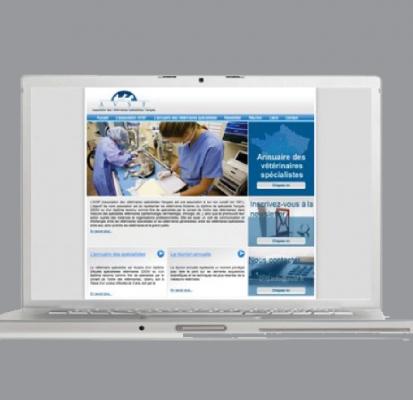 Site Internet de l'Association des vétérinaires spécialistes français